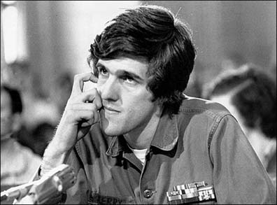John Kerry, then director of Vietnam Veterans Against the War, testifies before the Senate Foreign Relations Committee on April 22, 1971