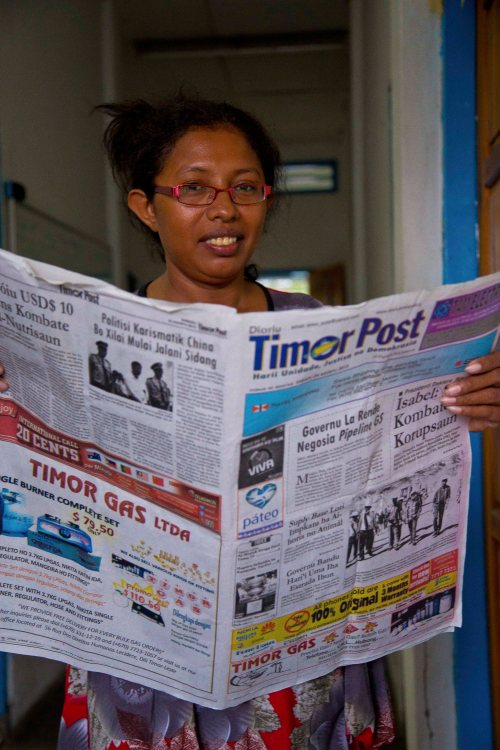 Rosa Garcia of the Timor Post. Photo by Wong Pei Ting