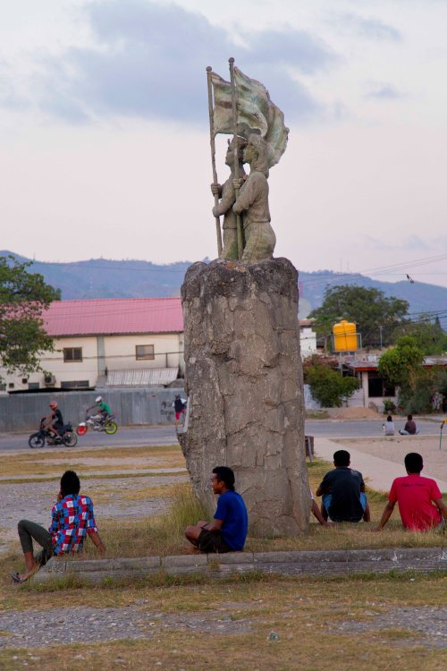 In Timor-Leste's capital of Dili, young men walk the streets aimlessly; youth unemployment is over 50 per cent in a country where more than 60 per cent are under 25. Photo: Wong Pei Ting